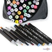 Набір маркерів Touch Raven (80 шт./уп. чорний корпус) маркери кольорові