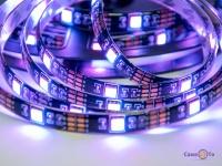Cвітлодіодна стрічка Led Strip 5050 на 5м. реагує на звук