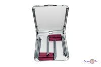 Раскладной стол и стулья для пикника - туристический стол чемодан (красный)