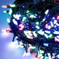 Светодиодная лед гирлянда на елку - гирлянда новогодняя на 1000 ламп, 65 м (мульти)