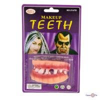 Накладні зуби вампіра гумові Makeup teeth, ікла на Хеллоуїн (звичайні)