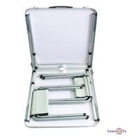 Набір туристичних меблів для пікніка - розкладний стіл + 4 стільці (білий)