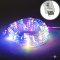 Гірлянда на ялинку вулична (9 м, 100 LED, дюралайт, прозора, різнокольорова, від USB)