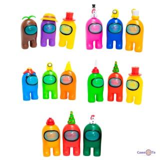 """Набір """"Амонг ас"""" іграшки (три фігурки Амонг ас) різнокольорові, іграшка з гри Among us"""