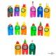 """Набор """"Амонг ас"""" игрушки (три фигурки Амонг ас) разноцветные, игрушка из игры Among us"""