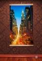 Инфракрасный гибкий обогреватель картина Манхеттен ночной, Трио, 400 W