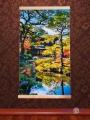 Електричний обігрівач картина на стіну Японський сад, Тріо, 400 W