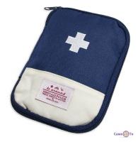 Медична аптечка органайзер для ліків - синя дорожня аптечка (13х18 см)