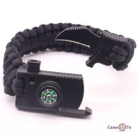 Браслет з паракорду Paracord Fire Starter Bracelet паракордовий браслет с компасом туристичний