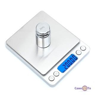 Ваги електронні Domotec MS-1729 / I-2000 - компактні ваги побутові, до 500 г