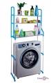 Стійка над пральною машиною пластик/метал блакитна висота 150 см.