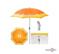 Велика садова парасолька від сонця 1.8 м апельсин