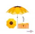 Велика складана пляжна парасолька 1.8 м соняшник