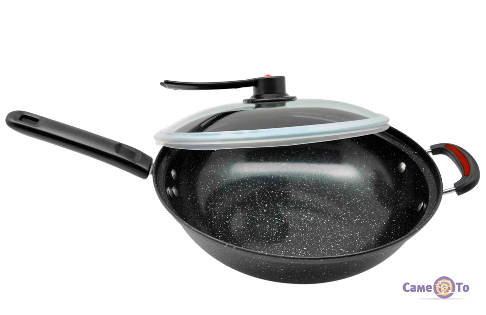 Керамическая сковорода Wok - вакуумная Вок сковорода, 32 см