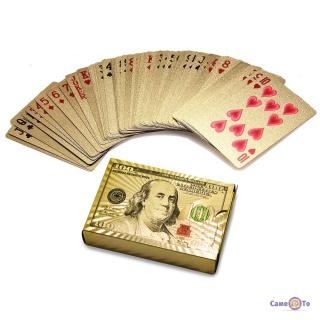 """Покерні пластикові гральні карти """"Золотий Доллар"""" 54 шт."""