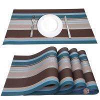 Сервировочные коврики-подставки под тарелки на кухонный стол, 4 шт