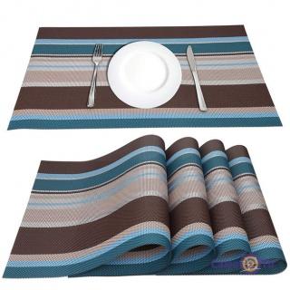 Сервіровочні килимки-підставки під тарілки на кухонний стіл, 4 шт