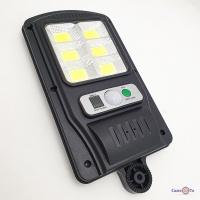 Ліхтар вуличний ліхтар на сонячній батареї Solar Light BL BK818-6 COB ліхтар з датчиком руху