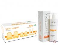 Набор Чудесник: силиконовые банки для массажа (6 шт.) + массажное масло