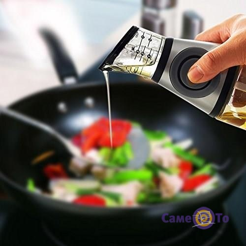 Бутылка для масла Press and Measure Oil Dispenser - бутылка с дозатором для масла
