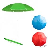 Пляжна парасоля складна Stenson 1,8 м зонтік пляжний з оборкою