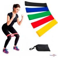 Резиновый ленточный эспандер для тренировок 5 шт Fitness