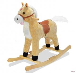 Детская лошадка качалка «Поющий конь» - конь качалка с подсветкой