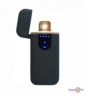 USB зажигалка Lighter Classic Fashionable (5414) - черная матовая электрозажигалка