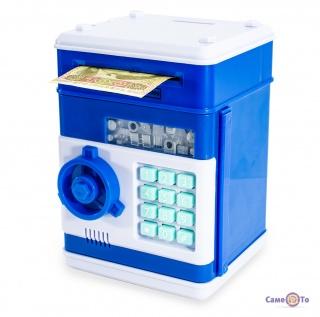 Скарбничка для дітей - сейф дитячий з кодовим замком, Синій
