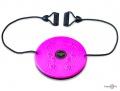 Диск Грация для талии - спортивный диск здоровье, розовый с эспандерами