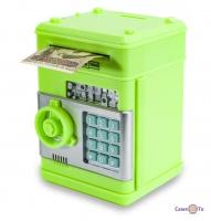 Сейф іграшковий - дитяча скарбничка з кодовим замком, Зелена