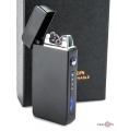 Плазменная электрозажигалка ZGP 19 (4579) - аккумуляторная зажигалка с USB на подарок