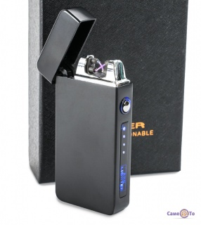 Плазмова електрозапальничка ZGP 19 (4579) - акумуляторна запальничка з USB на подарунок