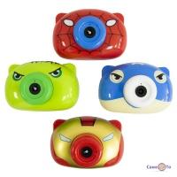 Генератор мыльных пузырей детский Bubble Camera Hero Team Фотоаппарат генератор для мыльных пузырей