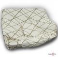 Универсальная накидка на кресло или одноместный диван (бежевая с узором) 90-140 см