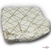 Універсальна накидка на крісло або одномісний диван (бежева з візерунком) 90-140 см