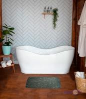 М'який вбираючий килимок для ванної кімнати 39х59 см