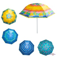 Пляжна парасолька Stenson 1.8 м з захистом от UV-променів та прінтом