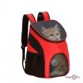 Рюкзак переноска для котів і собак червоний 35*25*31 см