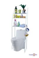 Органайзер для туалету за унітаз пластик/метал голуба висота 150 см.