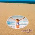 Пляжный коврик-подстилка - море девушка, 150 см