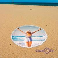 Пляжний килимок-підстилка - море дівчина, 150 см