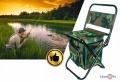 Розкладний стілець хакі для риболовлі з термосумкою