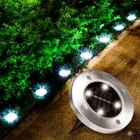 Вуличний світильник на сонячній батареї Bell Howell Disk lights (4 led)