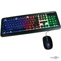 RGB клавіатура з мишкою для комп'ютера HK 3970