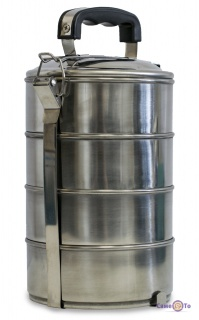 """Набор пищевых контейнеров из нержавеющей стали """"Handle Pots Set"""" 4 шт. набор судков"""