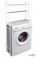Поличка над пральною машиною (метал, біла h-155см) стелаж на пральну машину