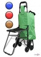 Тележка хозяйственная со стульчиком - тачка кравчучка на 33 л (шестиколесная ось)